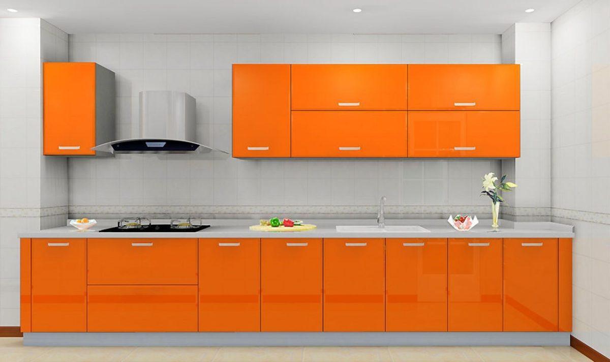 cucina-arancione-lucido
