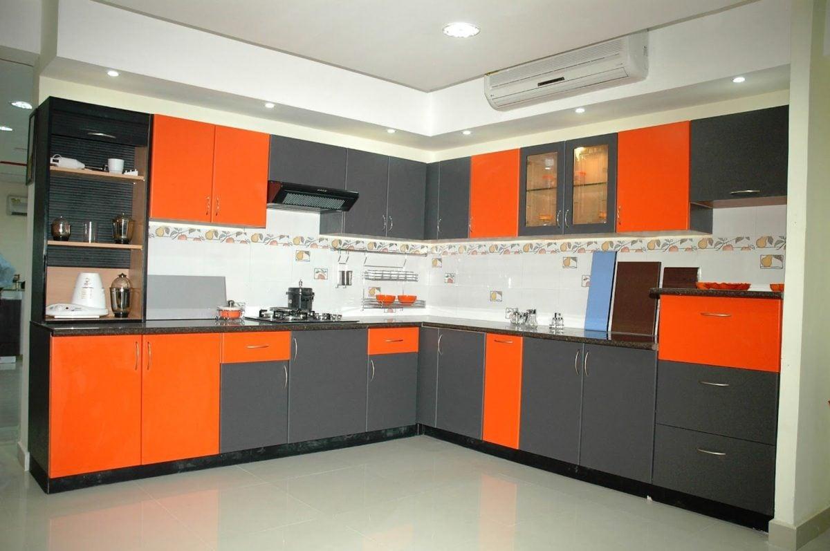 cucina-arancione-nero
