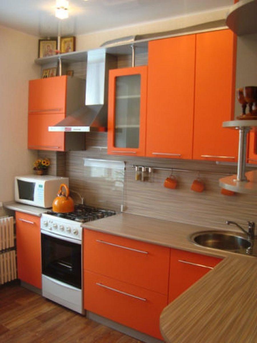 cucina-arancione-pensili