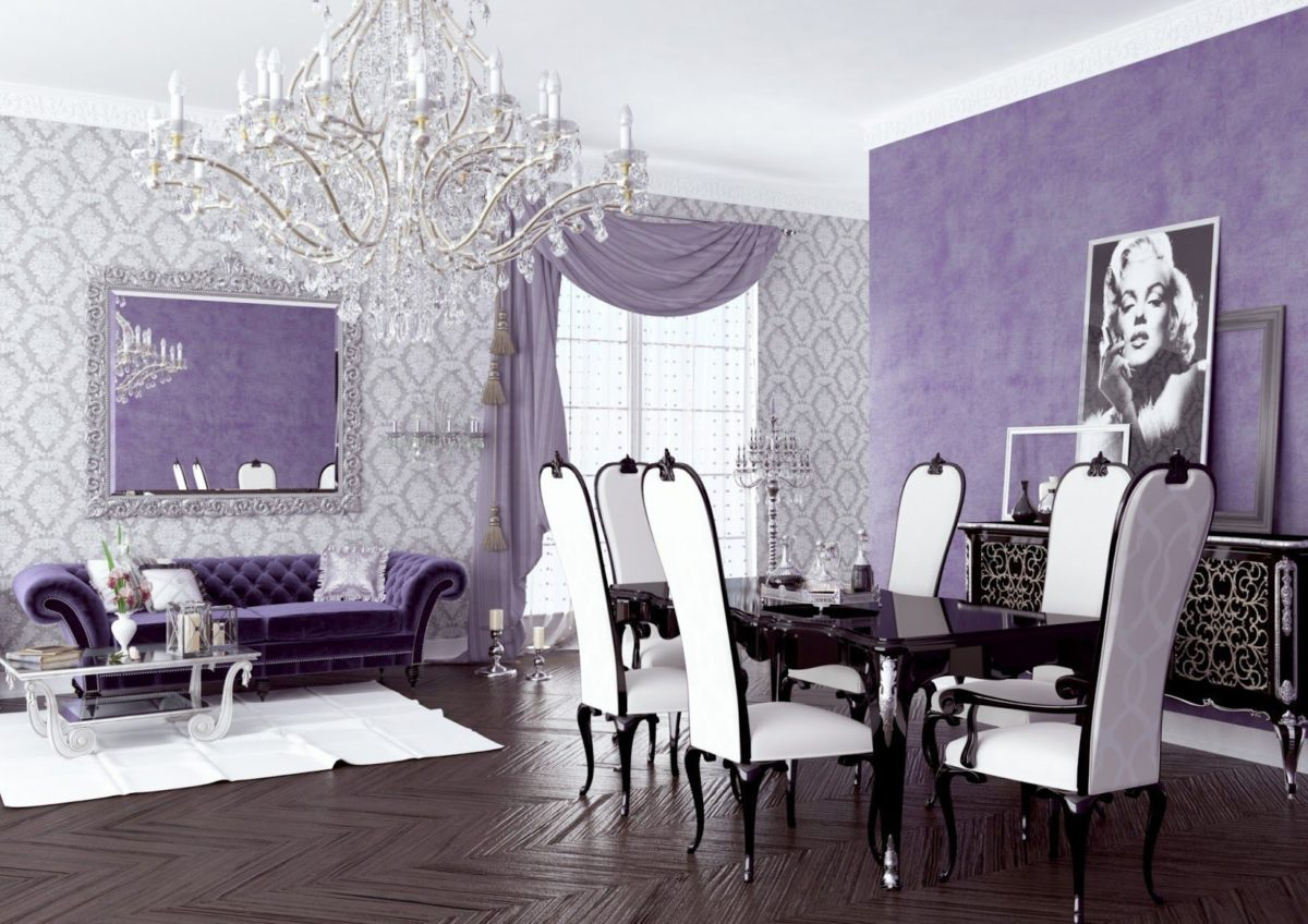 soggiorno-classico-color-glicine-elegante