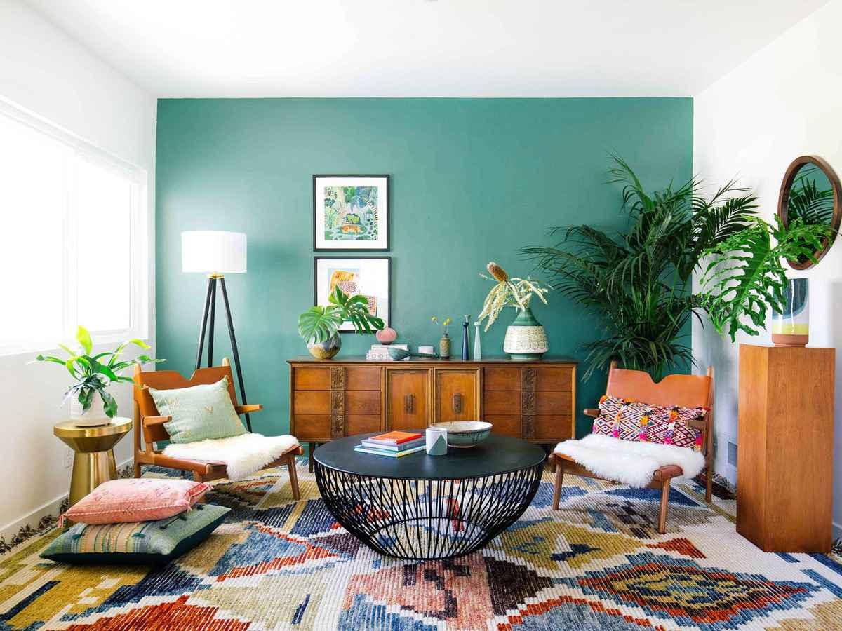 soggiorno-verde-menta-parete