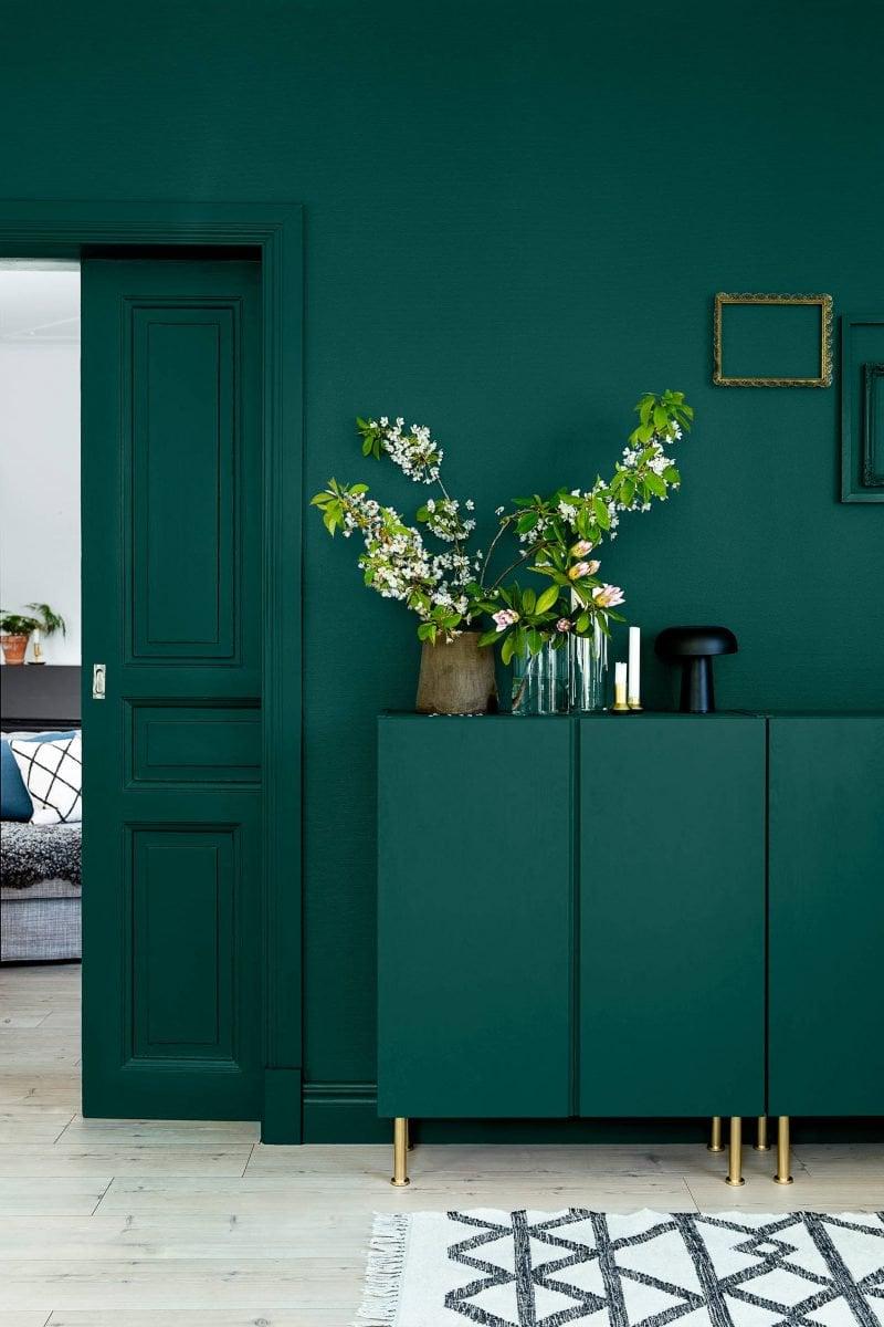 soggiorno-verde-petrolio-classico