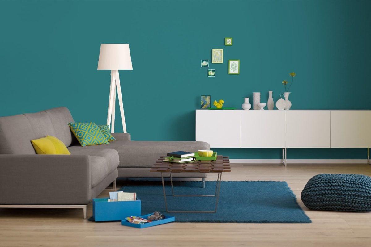 soggiorno-verde-petrolio-minimal