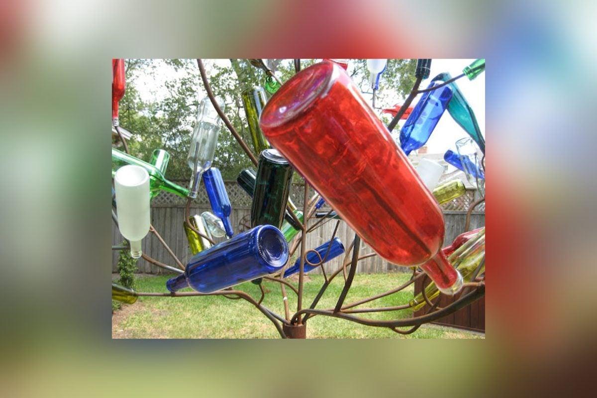 riciclare-bottiglie-vetro-albero