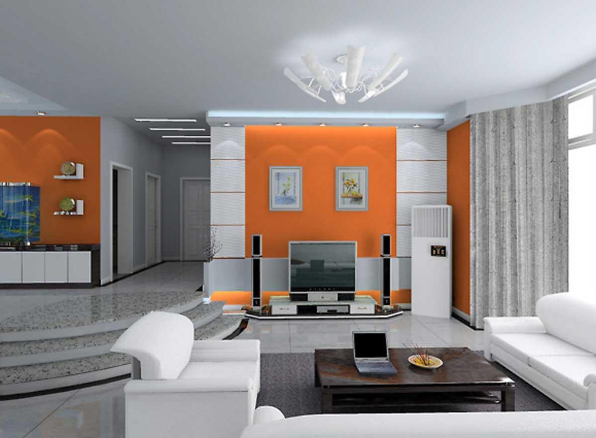 soggiorno-arancione-minimal-idee