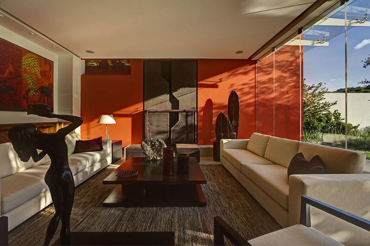 soggiorno-arancione-moderna