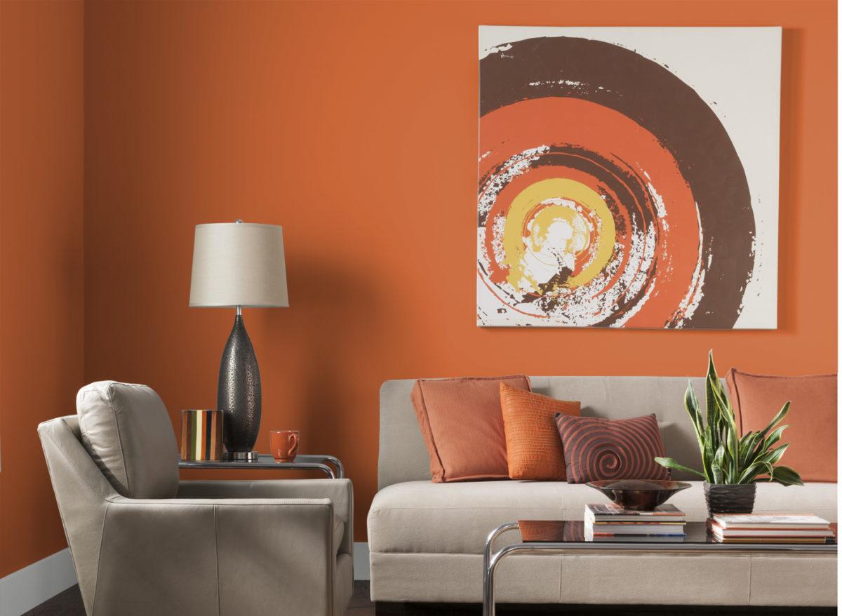 soggiorno-arancione-quadro