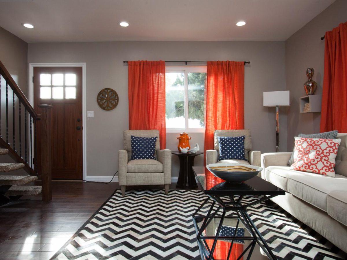 soggiorno-arancione-tende