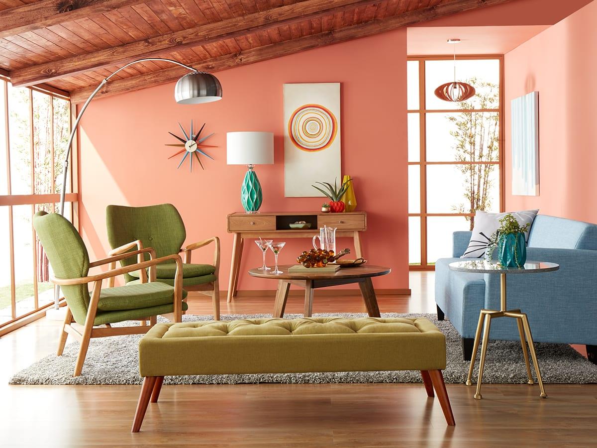 soggiorno-color-pesca-moderno-elegante