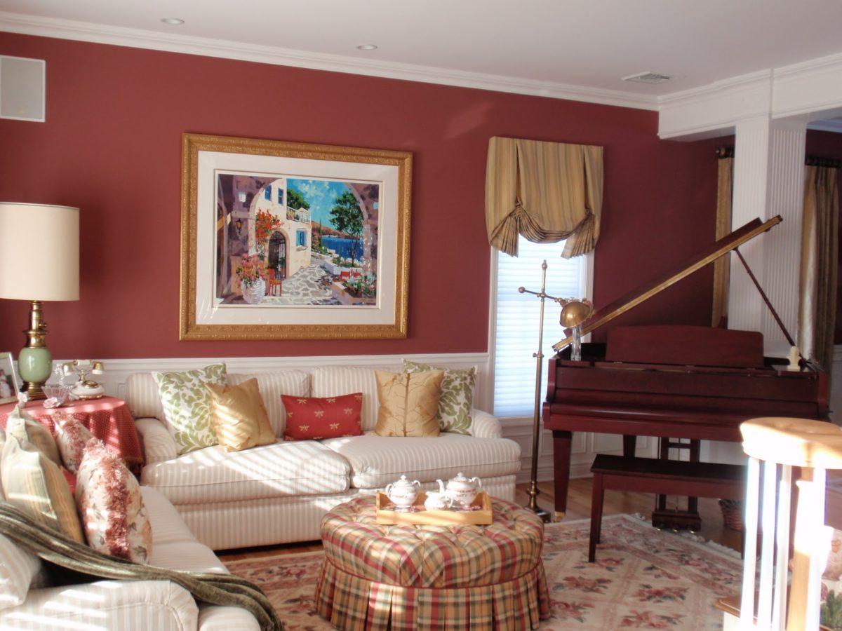 soggiorno-color-rosso-classico