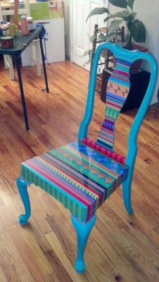 abbellire-sedie-legno-bohemien