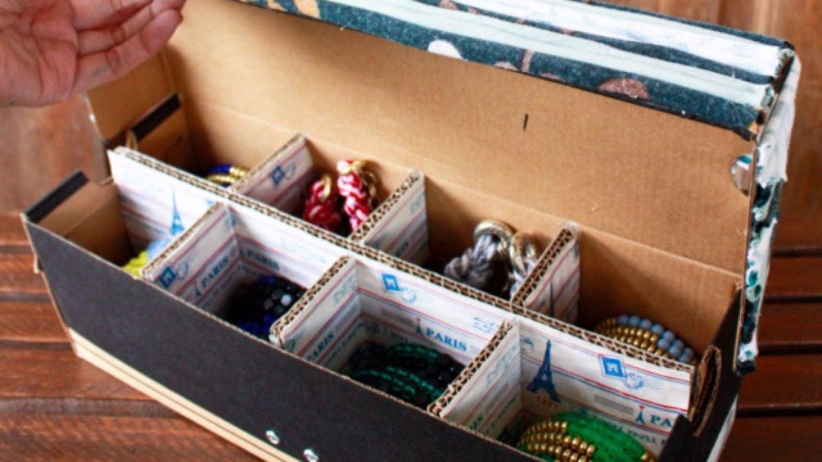 riciclare-scatole-scarpe-organiser