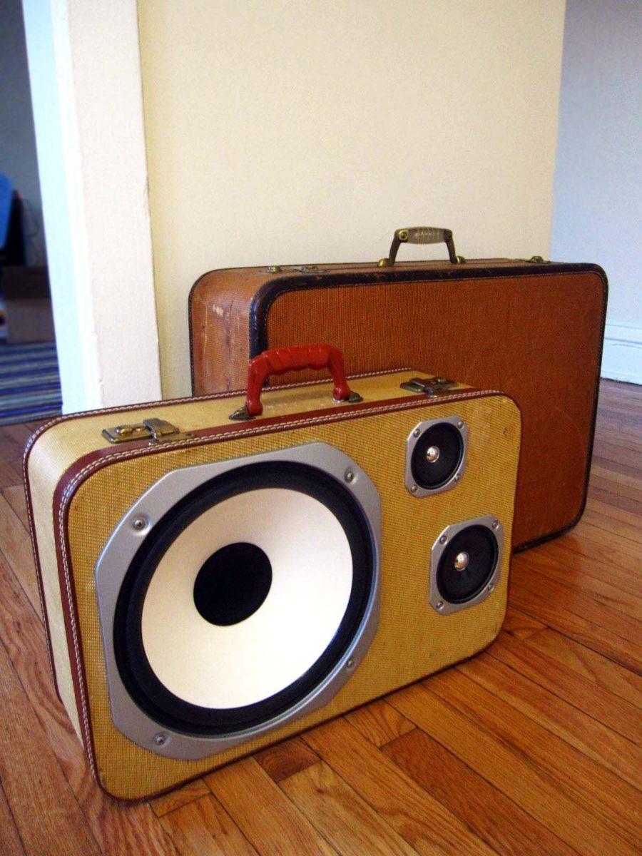 riciclare-valigia-cassa-stereo