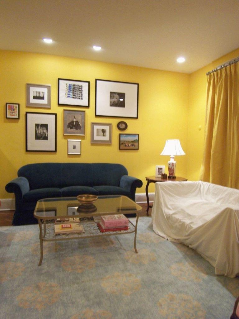 soggiorno-giallo-senape-tendaggi