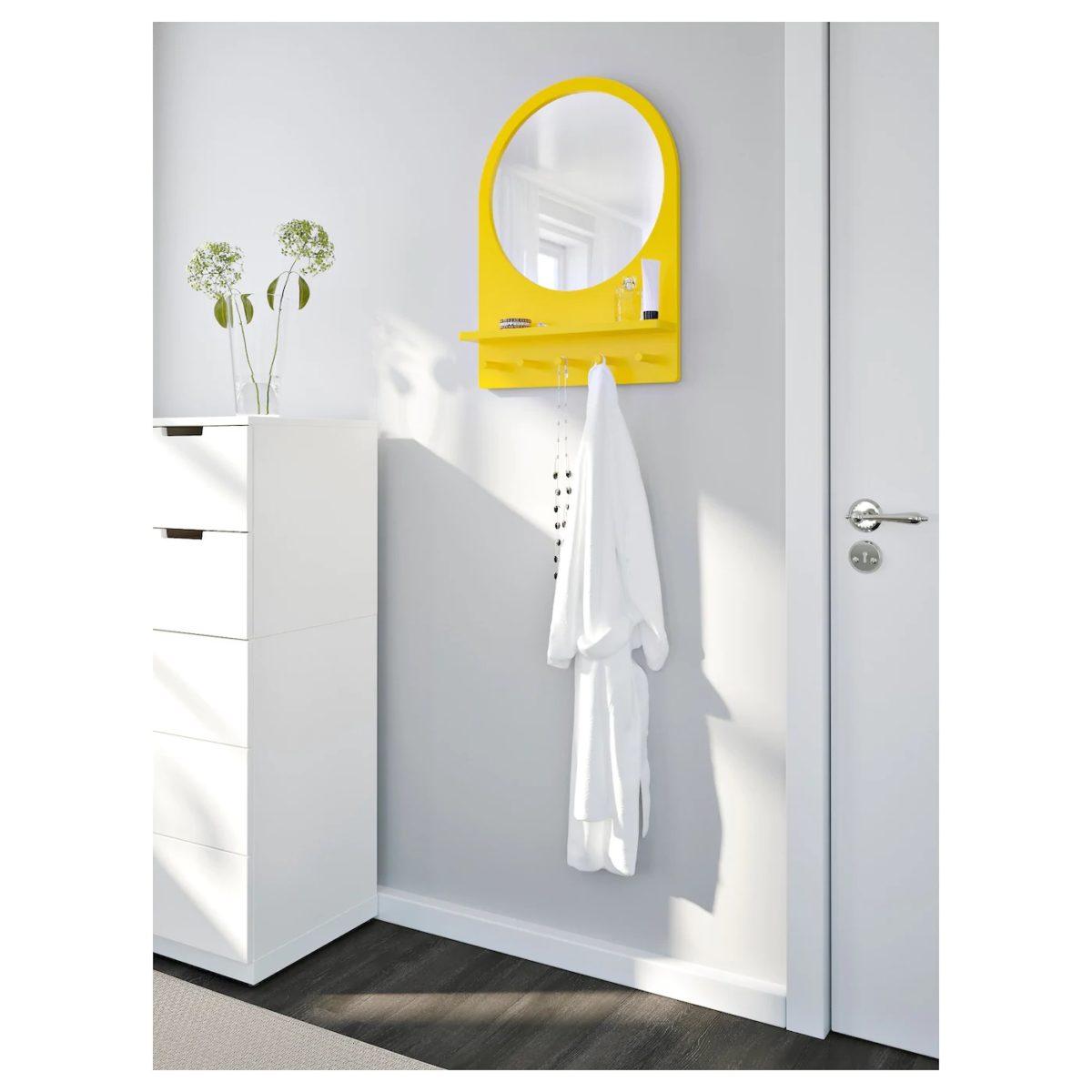 specchio-ikea-giallo-saltrod