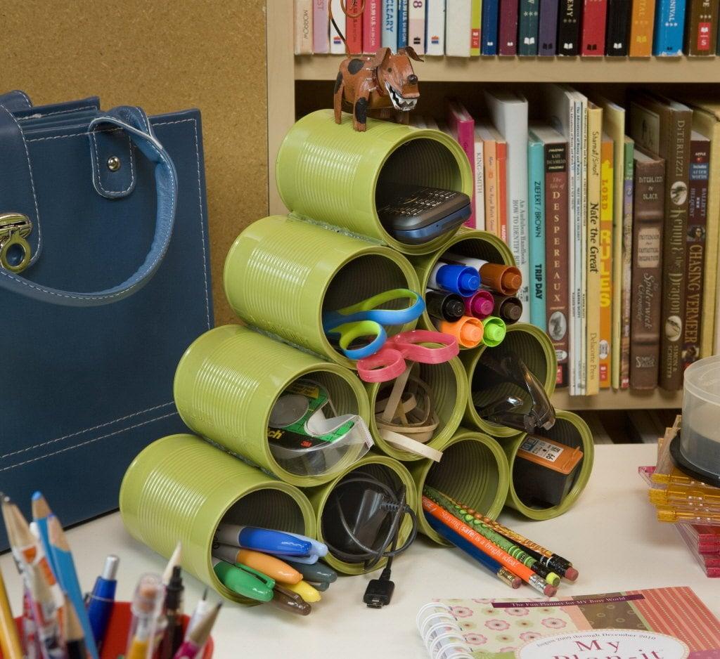 riciclare-lattine-organizser-scrivania