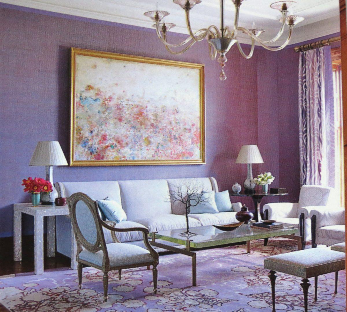 soggiorno-color-lavanda-vintage