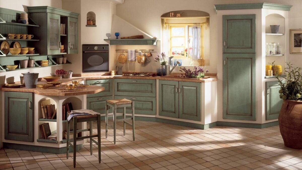 cucina-verde-salvia-shabby