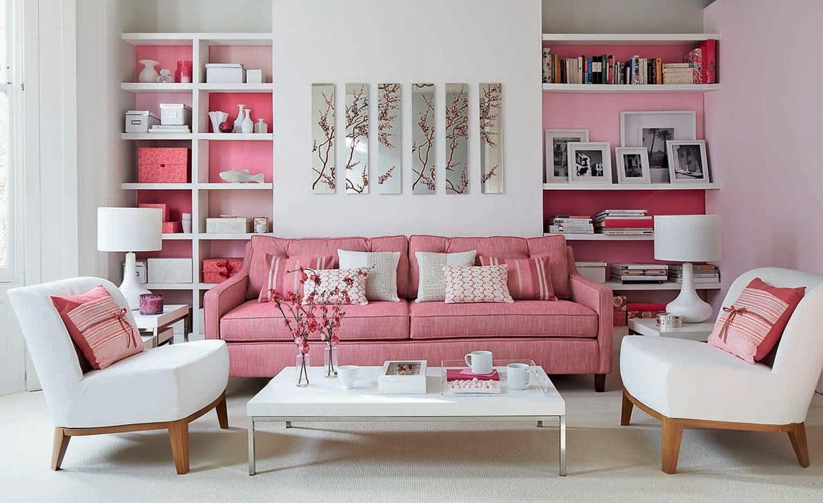 soggiorno-rosa-antico-moderno-divano