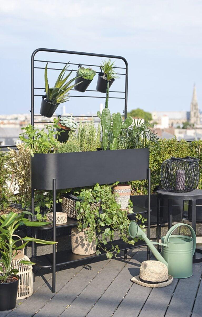 Maisons-du-Monde-fioriera-in-metallo-nero-con-4-vasi