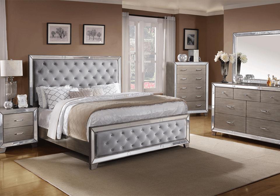 10 idee per la camera da letto color argento