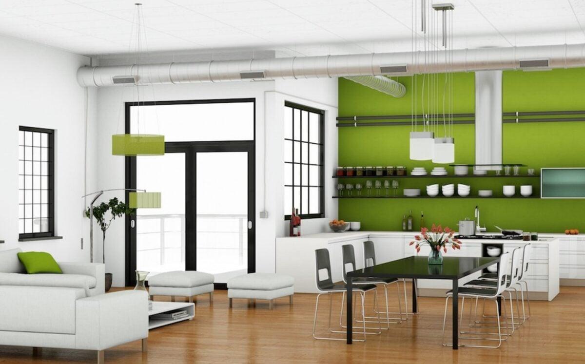 20 idee frizzanti per la cucina verde lime