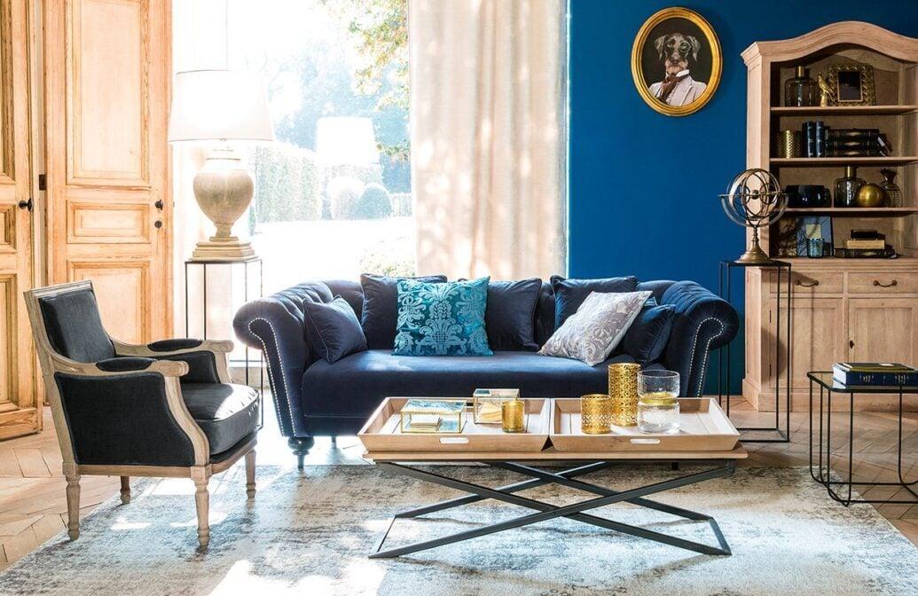 Gli abbinamenti migliori per un soggiorno in blu