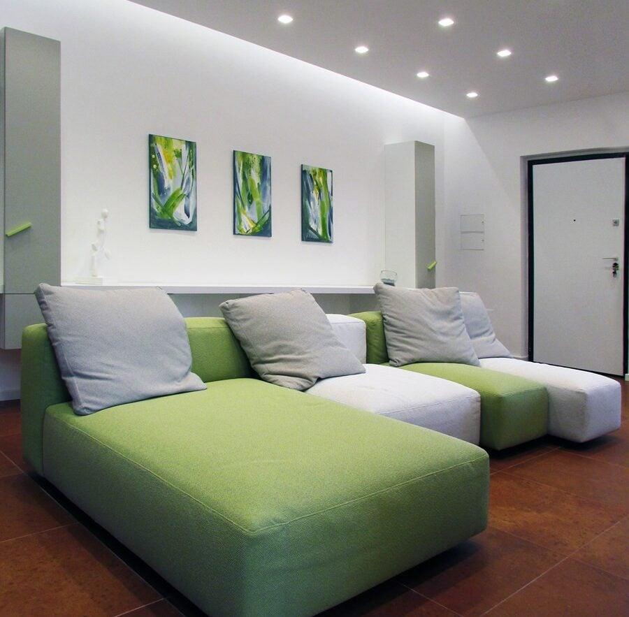 Abbinamenti da sogno per il soggiorno in verde