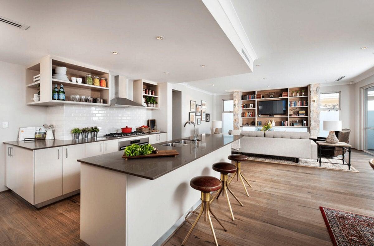 Idee originali per unire cucina e soggiorno