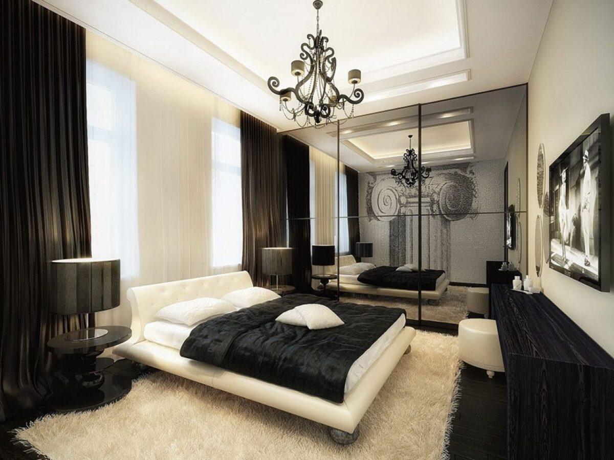 camera-da-letto-classica-bianca-nera