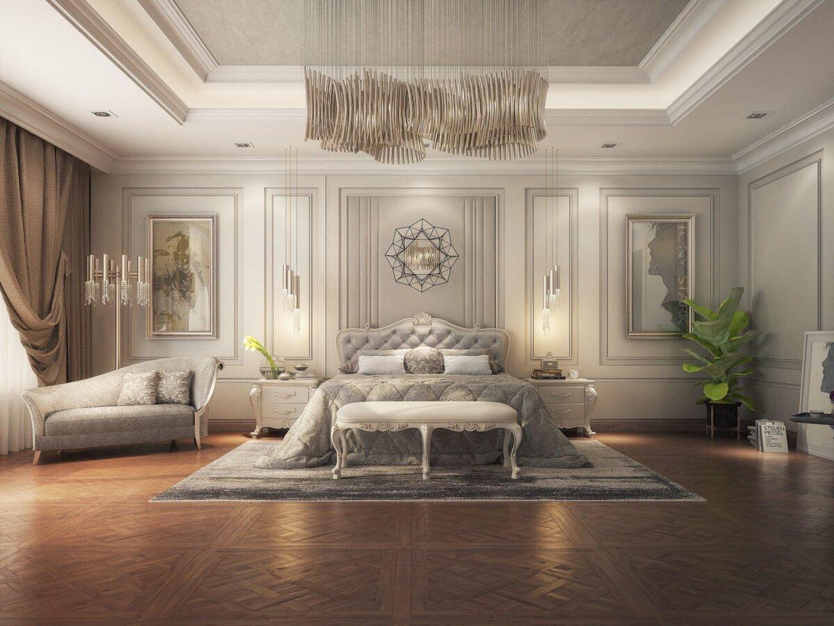 camera-da-letto-classica-grigio-ghiaccio