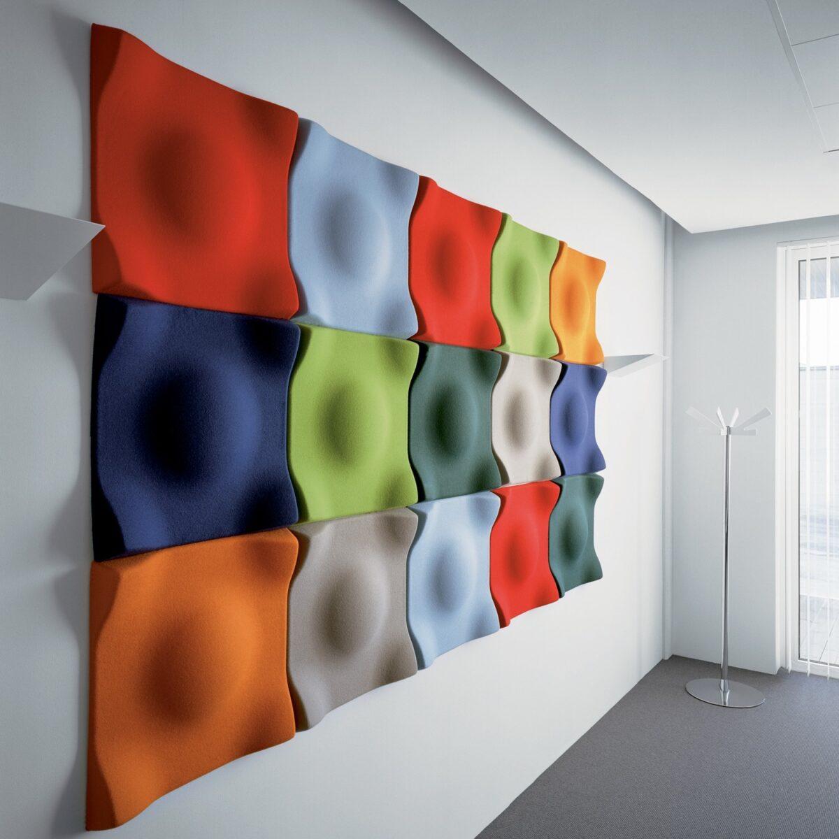 """ipotenusa,12/""""X12/""""X0.4/"""",6pcs,Nero opaco BUBOS Pannelli Fonoassorbenti,Pannelli murali imbottiti fonoassorbenti,Buono per isolamento acustico e trattamento acustico"""