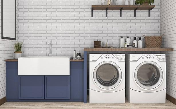 Come arredare bagno rettangolare con doccia e lavatrice: 3 proposte + 1