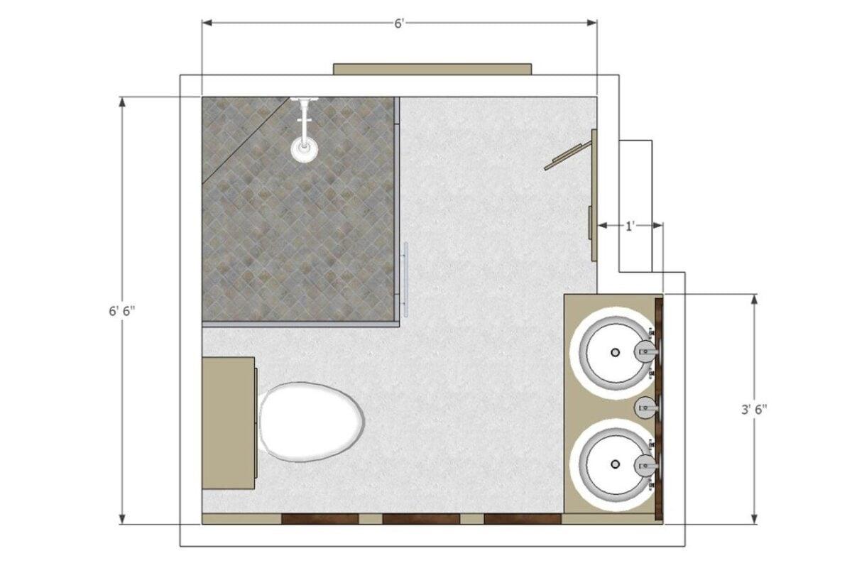 mettere-lavatrice-bagno-quadrato-pianta
