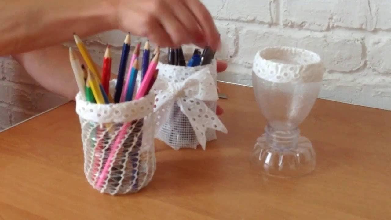 riciclare-bicchieri-plastica-matite