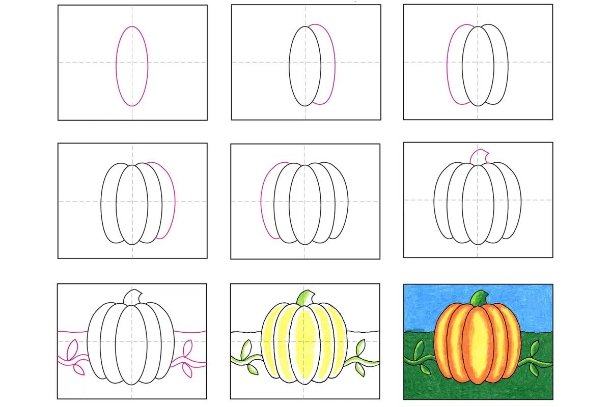 disegnare-zucche-halloween