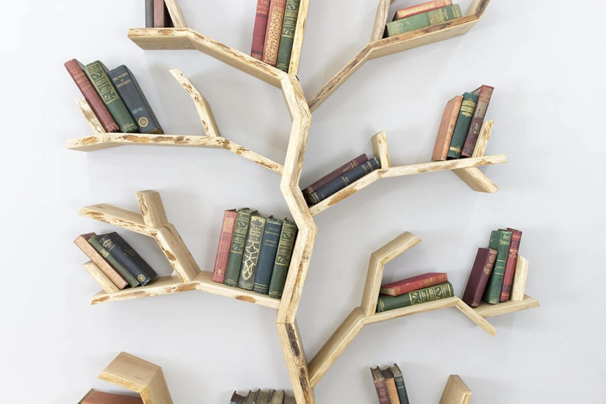 librerie-muro-moderne-albero
