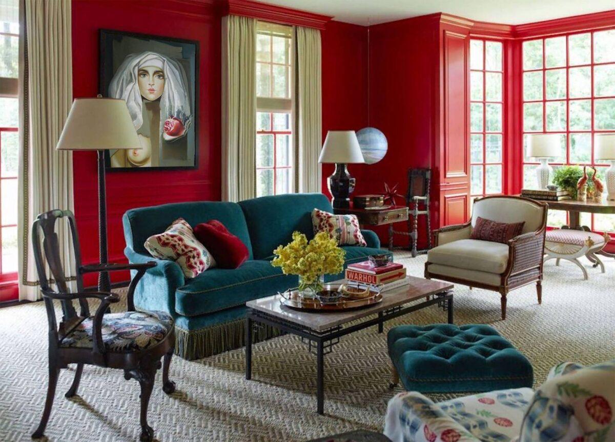 Colori da abbinare alle pareti rosse: 7 proposte per ogni ambiente