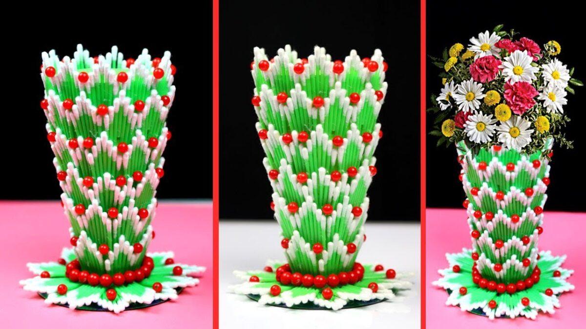 decorazioni-cotton-fioc-vaso