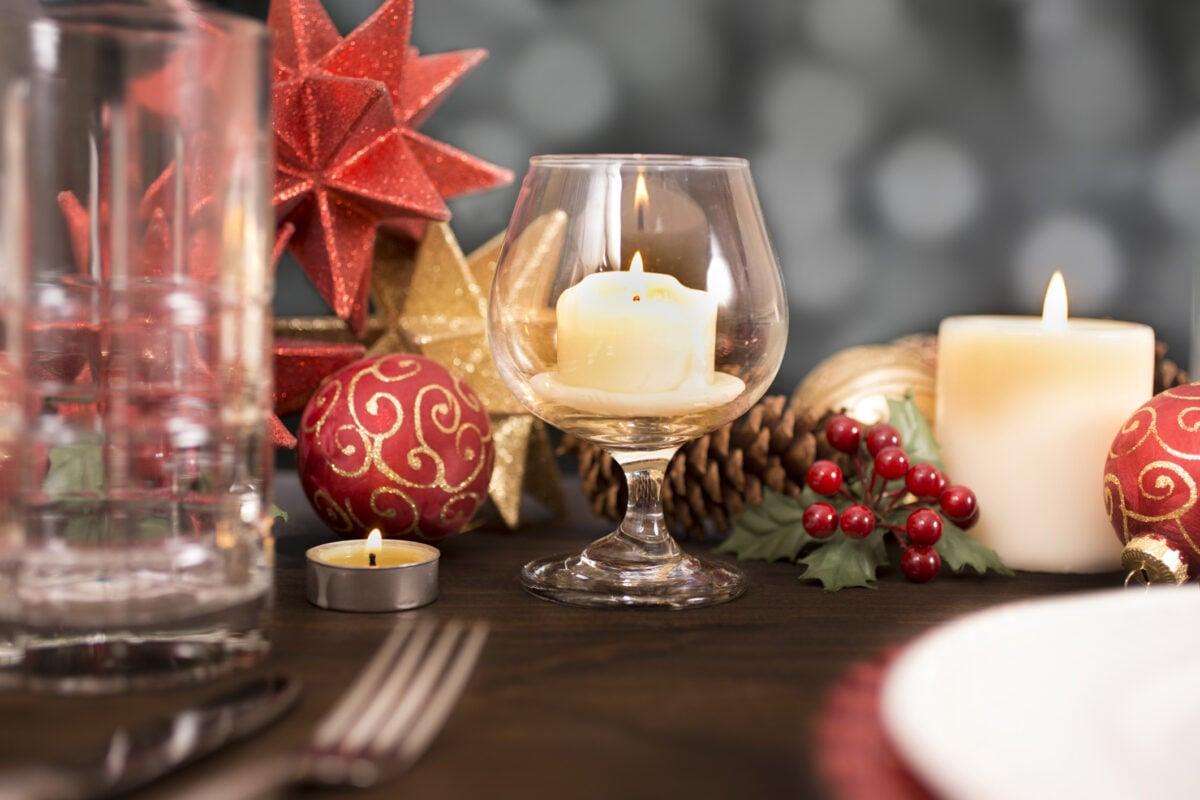 bicchiere porta candela
