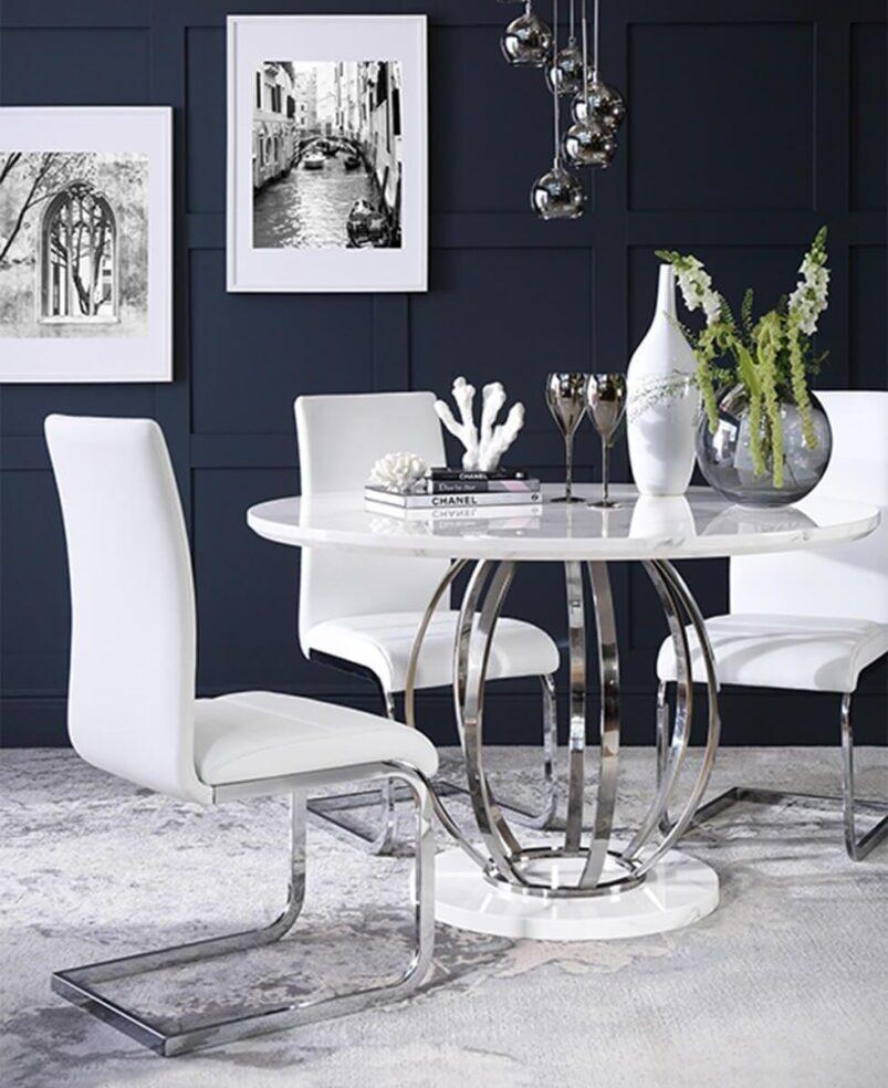 10 idee per il tavolo da pranzo rotondo: materiali, stili, quali scegliere