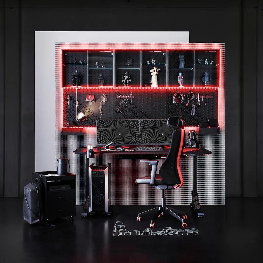 ikea-uppspel-scrivania-da-gaming-nero