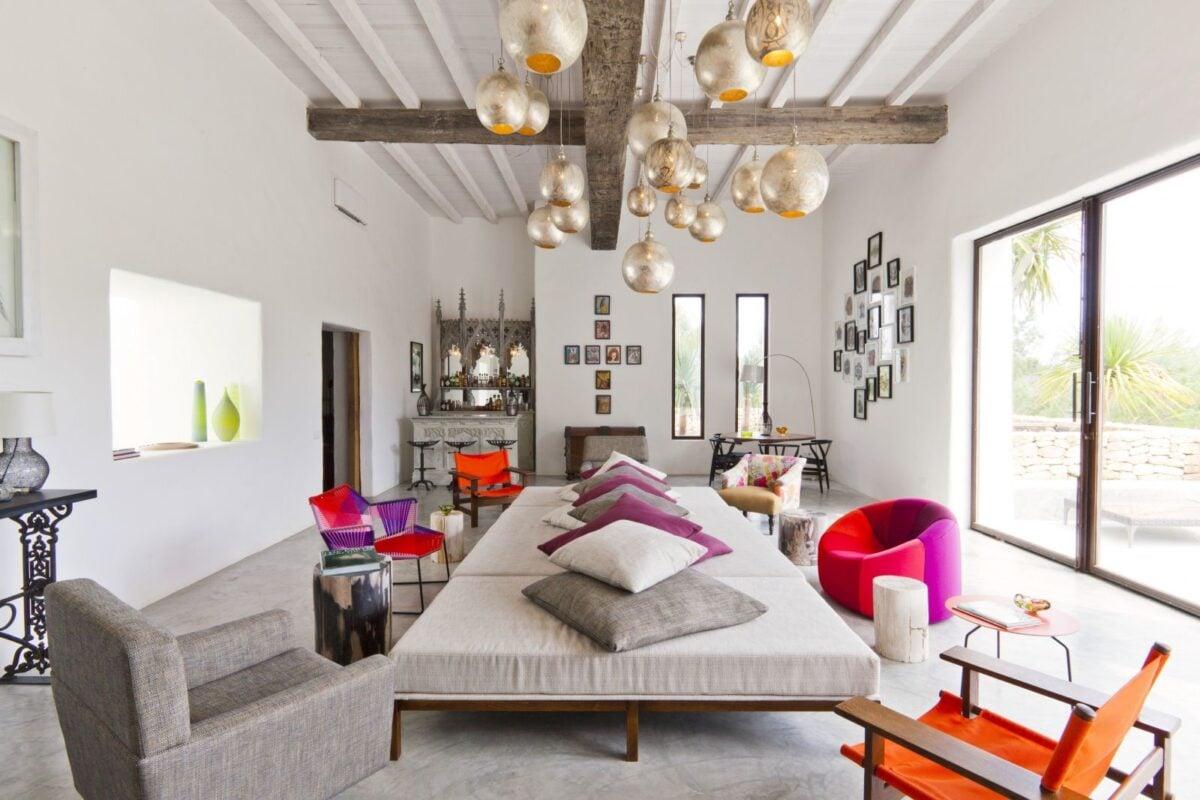 Colori migliori per il soggiorno in stile etnico