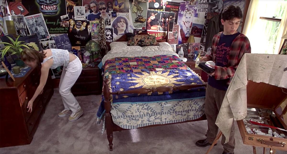 Camera da letto in stile anni 80