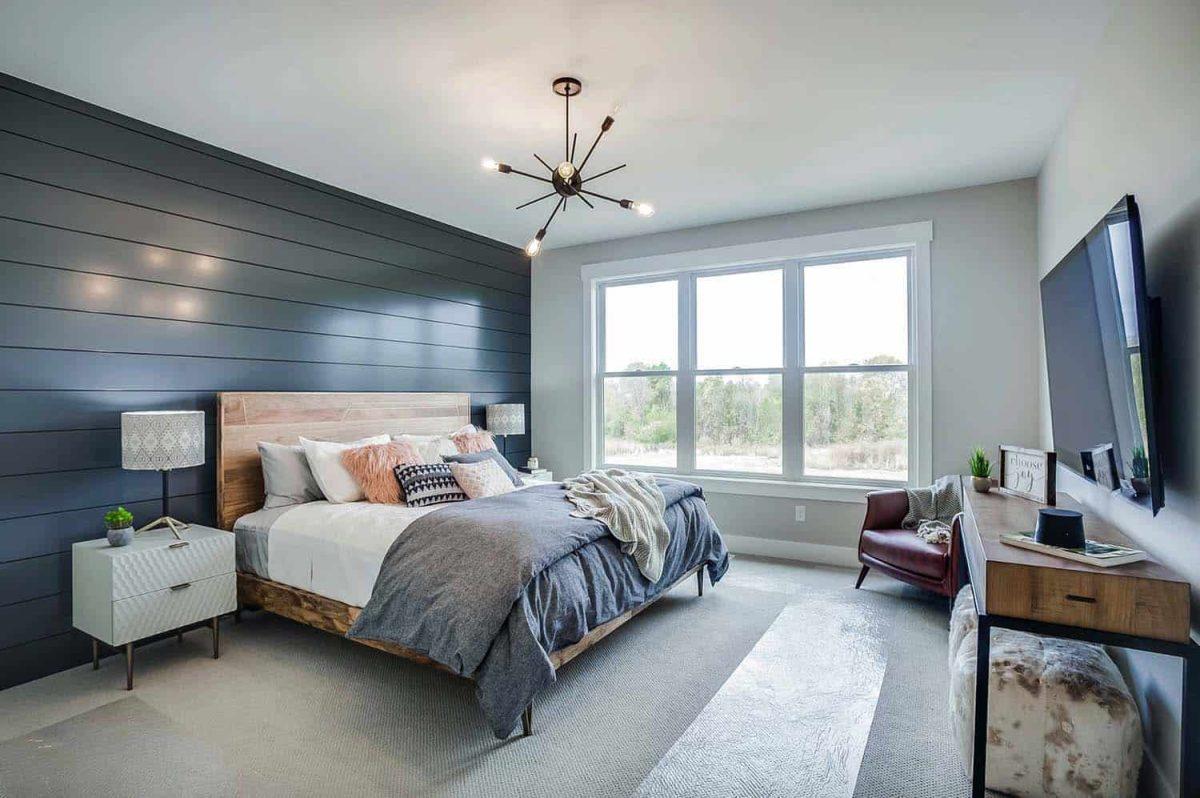Camera da letto stile eclettico
