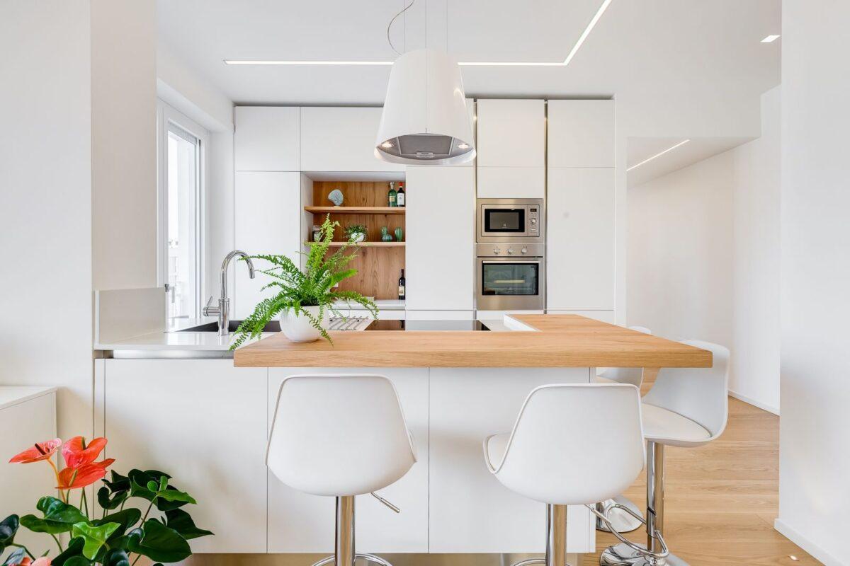 Cucina scandinava piccola: idee