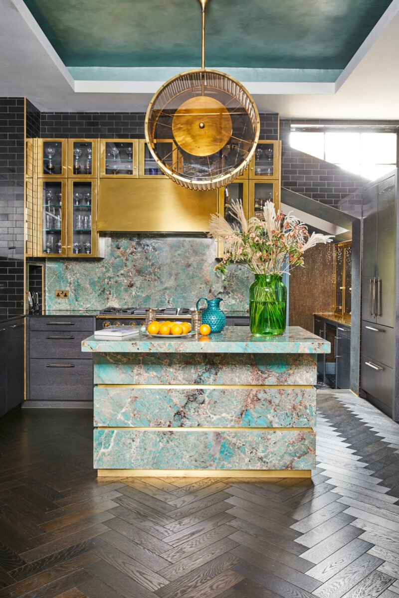 lampada-a-sospensione-cucina-glamour-contemporanea