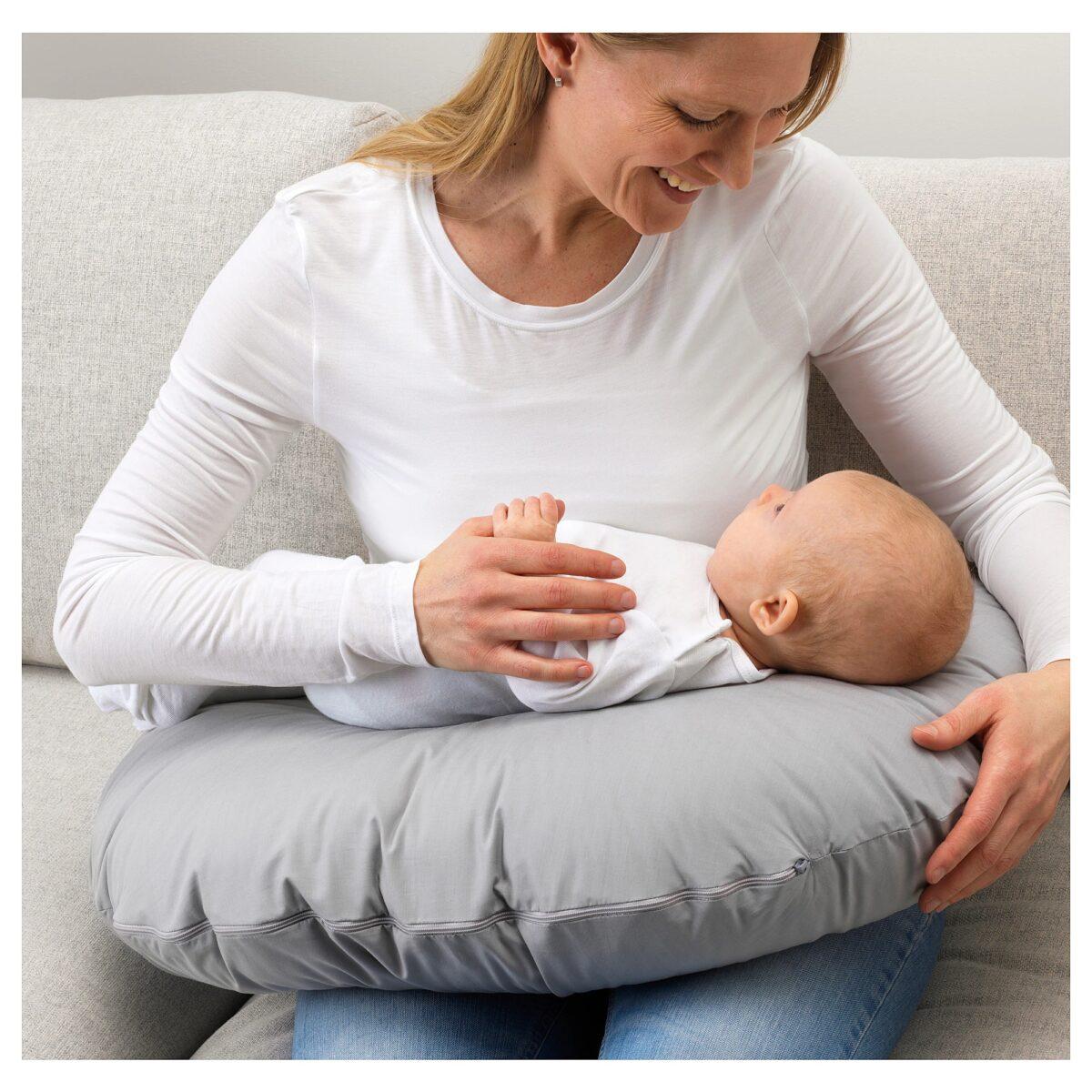 len-cuscino-allattamento-grigio