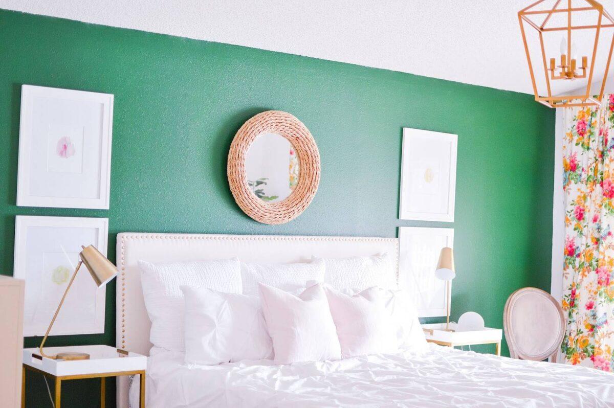 pareti-camera-da-letto-verde-smeraldo