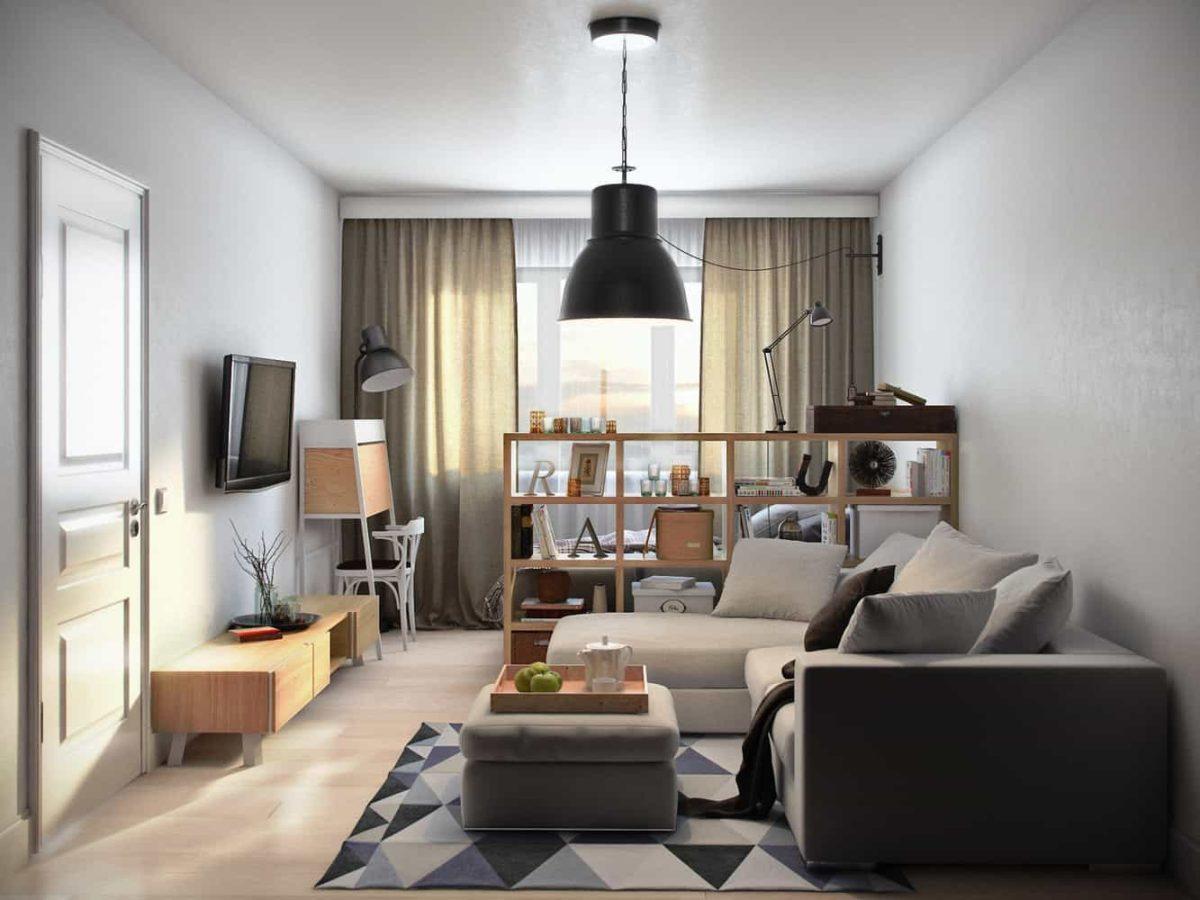 Bilocale 40 mq: idee per soggiorno-camera da letto unico ambiente